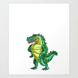 Big Brother Crocodile Alligator Reptile Animal Art Print