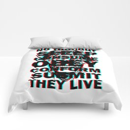 They Live (with text) Comforters