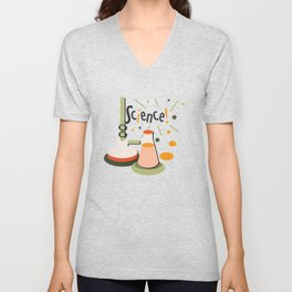 Bunsen and Beaker Unisex V-Neck