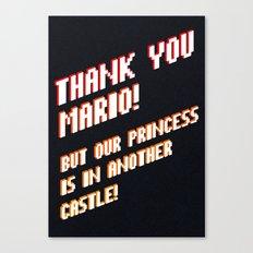 Thank You Mario! Canvas Print