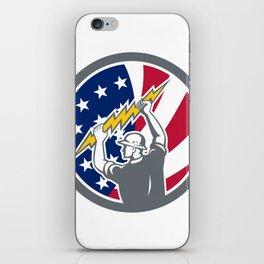 American Electrician USA Flag Icon iPhone Skin