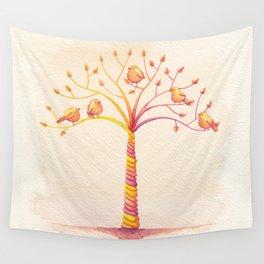 April Tree Wall Tapestry