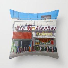 Big Six Throw Pillow