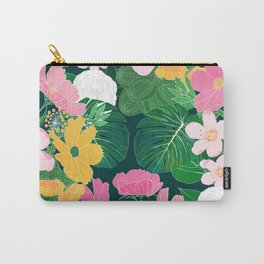 Stylish exotic floral and foliage design Carry-All Pouch