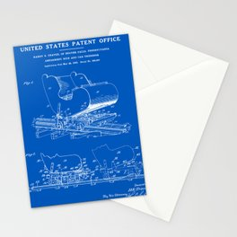 Roller Coaster Patent - Blueprint Stationery Cards
