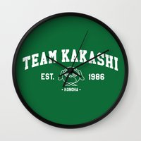 kakashi Wall Clocks featuring Team Kakashi by Tsundere in the Sheets