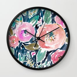 GARDENS OF CAPITOLA Watercolor Floral Wall Clock