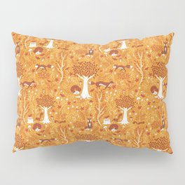 Foxes in a Forest of Fall Trees Pillow Sham