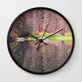 Rainbow Lake Wall Clock