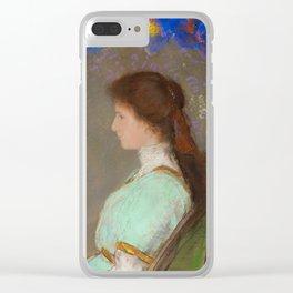 Violette Heymann 1910 - By Odilon Redon Clear iPhone Case