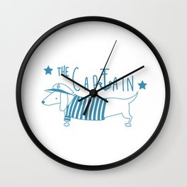 The Captain- seawolf Wall Clock