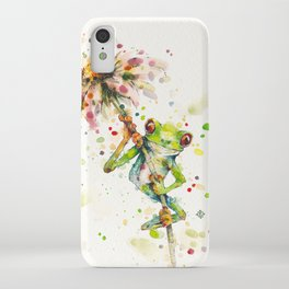 Hello There Bright Eyes (Green Tree Frog) iPhone Case