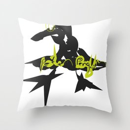 Peter Penguin 3 Throw Pillow