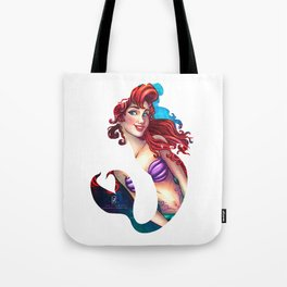 Mermaid Silhouette  Tote Bag
