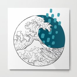 Great wave illustration Metal Print