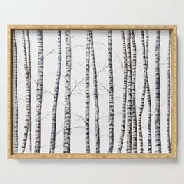 Birch trees Serving Tray