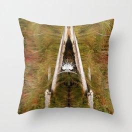 Natures Reflection   Spash   Pond   Natural Throw Pillow