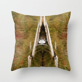 Natures Reflection | Spash | Pond | Natural Throw Pillow
