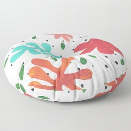 Tropical Leaves Two Floor Pillow