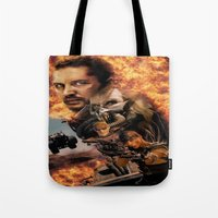 mad max Tote Bags featuring Mad Max by SB Art Productions