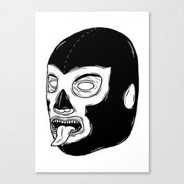 Black Luchador Canvas Print