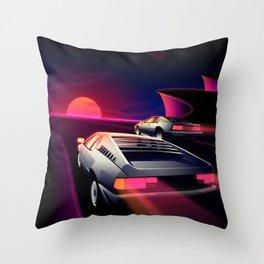 Cliffside Racers Throw Pillow