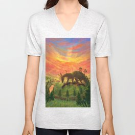 Uprooted Ancient Unisex V-Neck