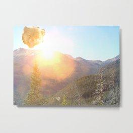 Bear Sun Metal Print