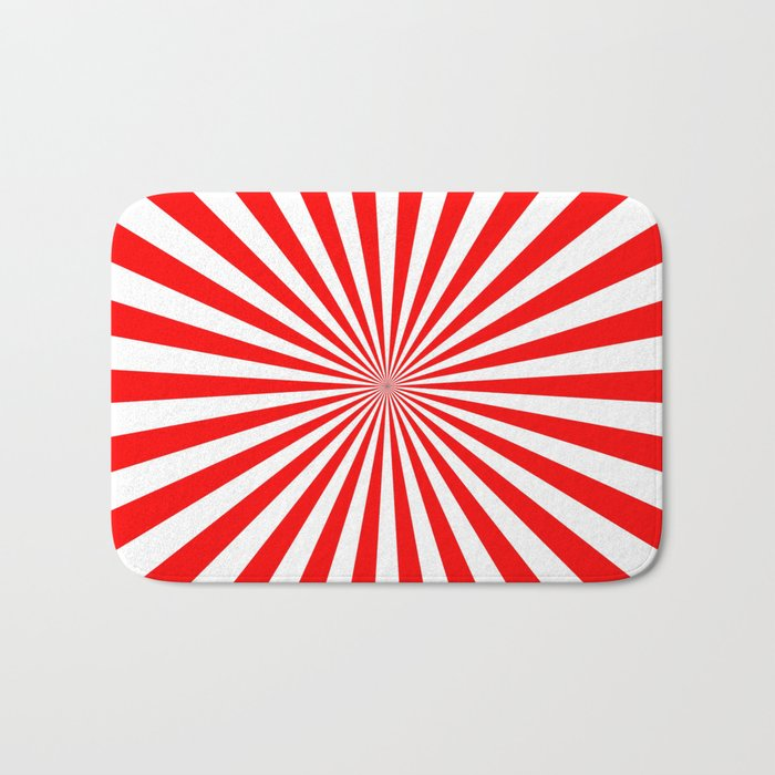 Starburst (Red/White) Bath Mat