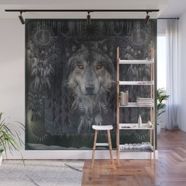 The Winter is here - Wolf Dreamcatcher Wall Mural