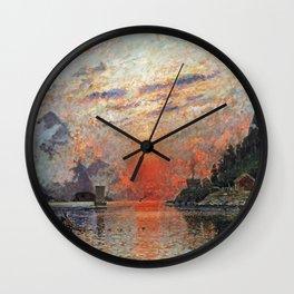 Adelsteen Normann - A Fjord Wall Clock