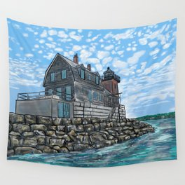 Breakwater Lighthouse Wall Tapestry