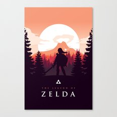 The Legend of Zelda - Orange Version Canvas Print