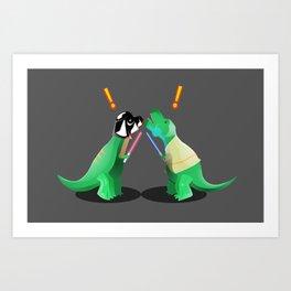 Jurassic Wars Art Print