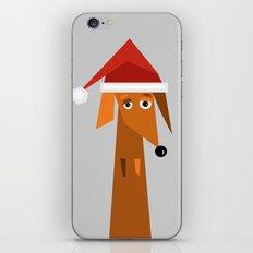 Dachshund Ready For Christmas iPhone & iPod Skin