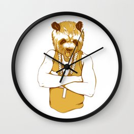 Bear - Panda - You're a Beast Wall Clock