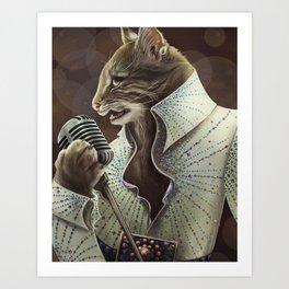 Elvis Petme Art Print