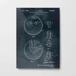 1948 - Bowling ball patent art Metal Print