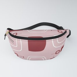 Midcentury Modern Bowls & Stones Pink Fanny Pack