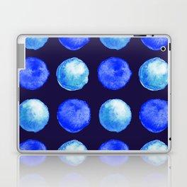 Winter Blue Watercolor Large Dots Pattern Laptop & iPad Skin