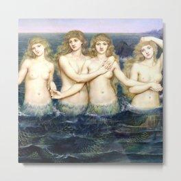 "Evelyn De Morgan ""The Sea Maidens"" Metal Print"
