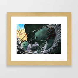 A Narwhal Joust for the Ages Framed Art Print