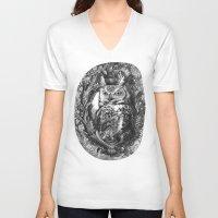 eric fan V-neck T-shirts featuring Nightwatch - by Eric Fan and Garima Dhawan  by Eric Fan