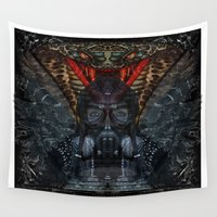totem Wall Tapestries featuring My totem... by ZefxisJR281