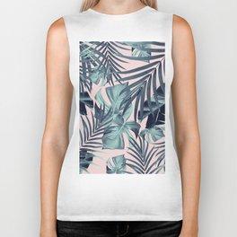 Tropical Jungle Leaves Pattern #8 #tropical #decor #art #society6 Biker Tank
