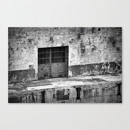 Power Plant Door 2 BW Canvas Print