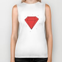 ruby Biker Tanks featuring Ruby  by Normandie Illustration