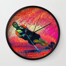 Lava Ski Wall Clock