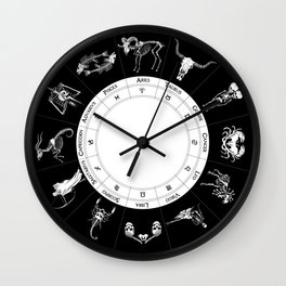 Skeleton Zodiac Ouija Board Wall Clock
