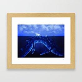 Iceberg Dragon Framed Art Print